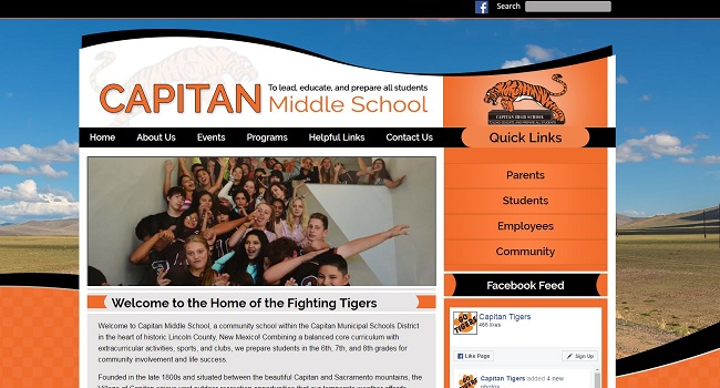 School Sites: Capitan Middle School