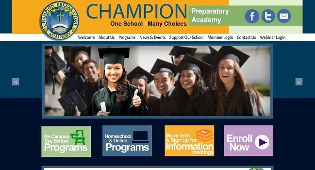 Web Design for Private Schools: Champion Preparatory Academy
