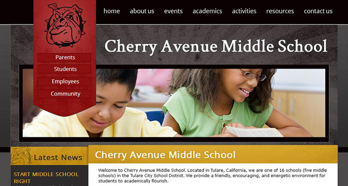 School Website Designer: Cherry Avenue Middle School