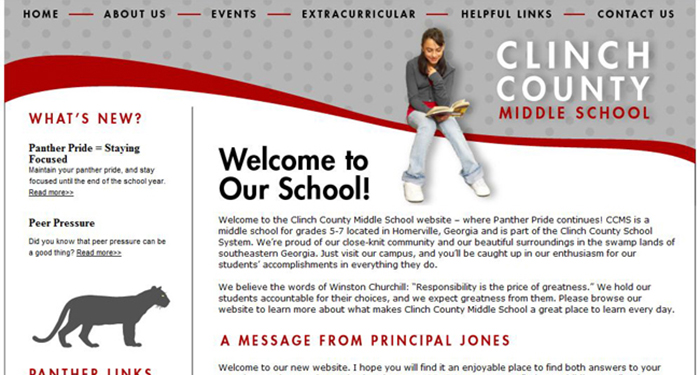 School Website Designs: Clinch County Middle School