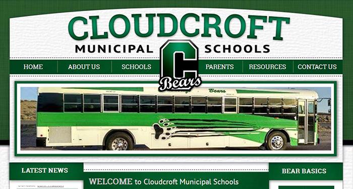 Responsive School Websites: Cloudcroft Municipal Schools