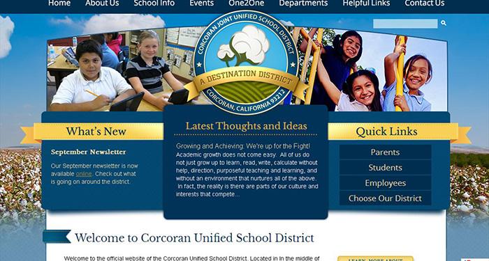School Website Designer: Corcoran Joint Unified School District