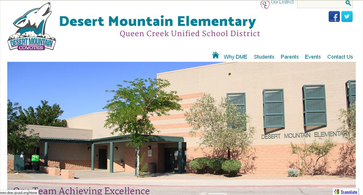 School Websites: Desert Mountain Elementary