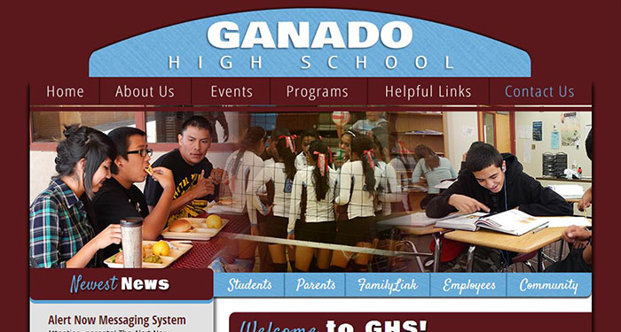 High School Web Design: Ganado High School