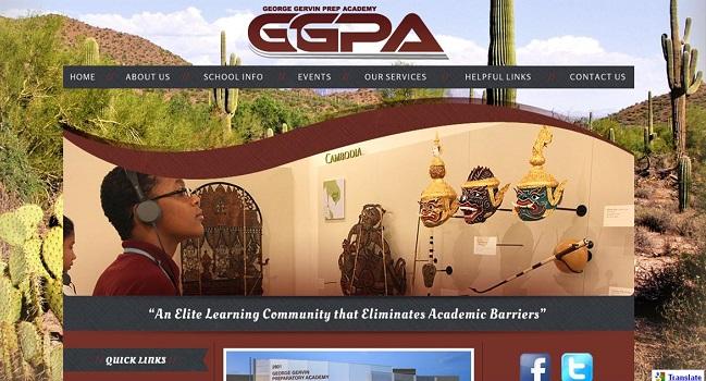 Private School Website Design: George Gervin Prep Academy