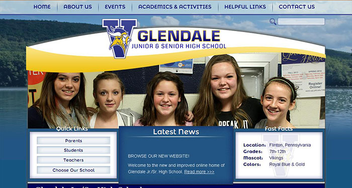 Best High School Website Design: Glendale High School