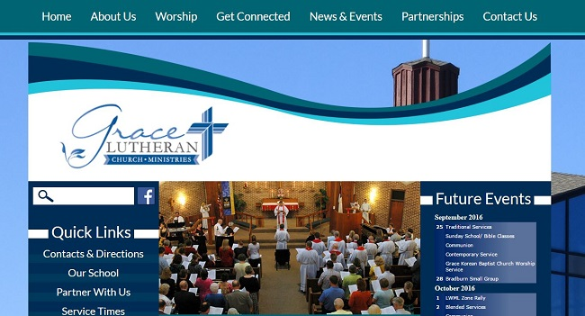 Church Website Design: Grace Lutheran Church