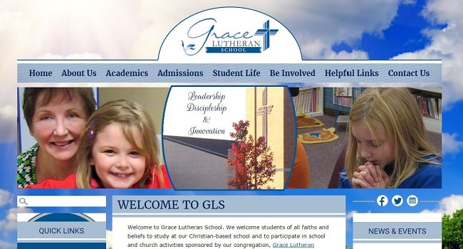 Private School Website Design: Grace Lutheran School