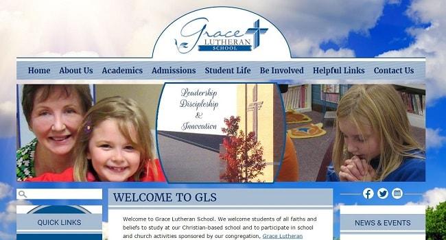 Private School Website Design: Grace Lutheran School