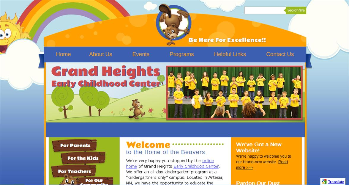 School Web Design: Grand Heights Early Childhood Center