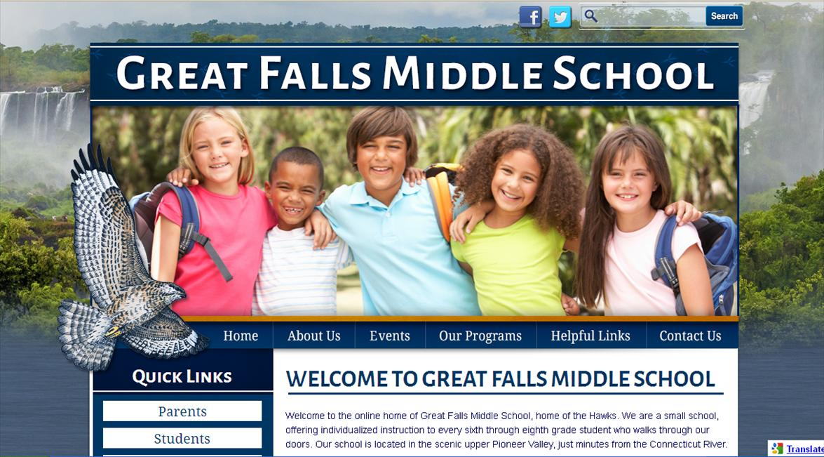 Web Design for Schools: Great Falls Middle School
