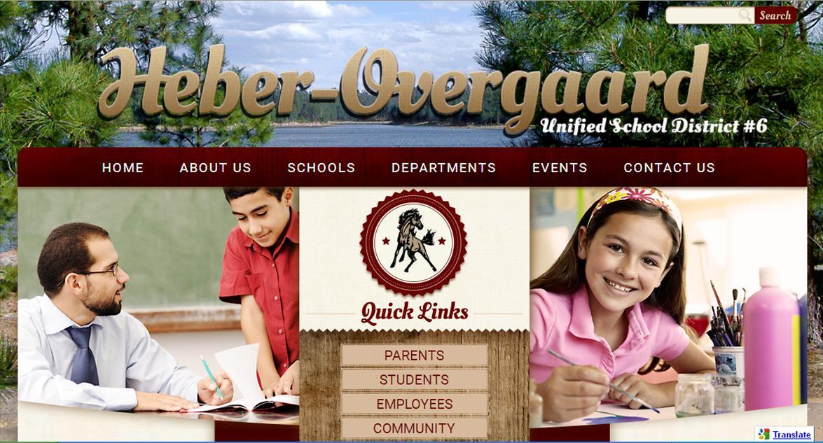 School Web Page: Heber-Overgaard