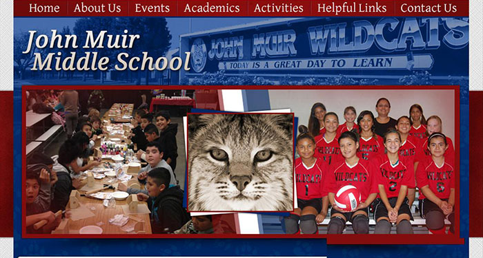 School Website Designs: John Muir Middle School