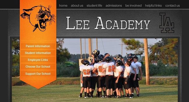 Private School Websites: Lee Academy
