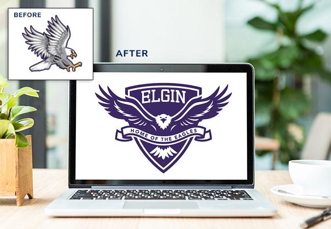 Elementary School Logo Design: Elgin Elementary