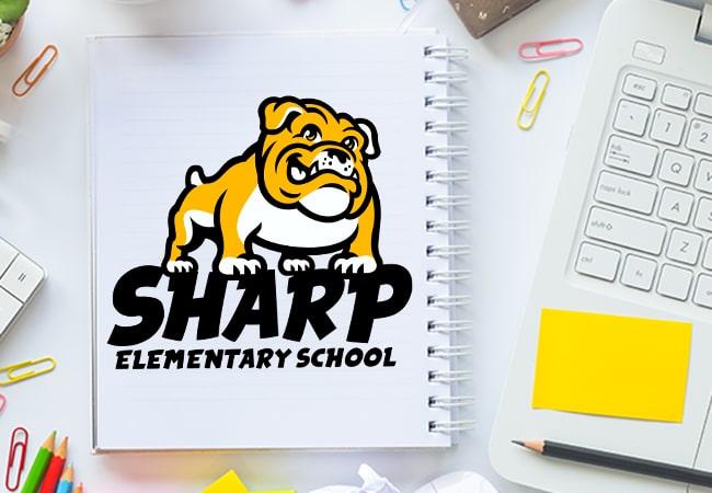 School Logo Design: Sharp Elementary School