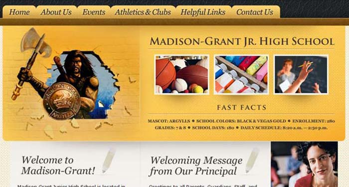 School Web Page: Madison-Grant Jr. High School