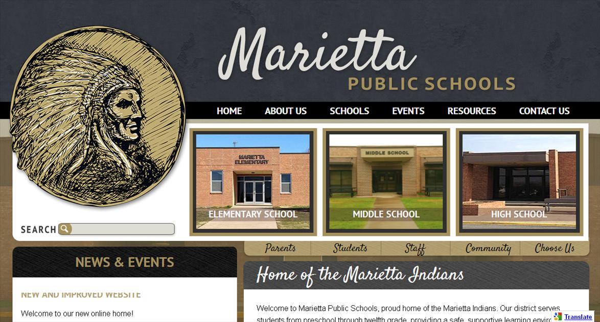School Website Designers: Marietta Public Schools