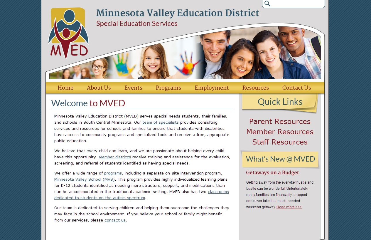Education Coop Websites: Minnesota Valley Education District