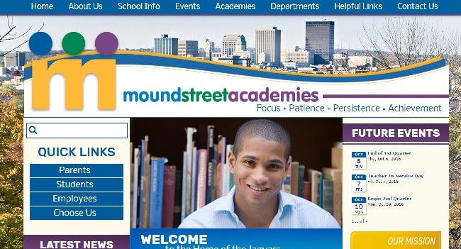 Private School Web Design: Mound Street Academies