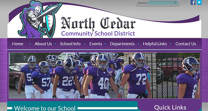 School Website Designer: North Cedar Community School District