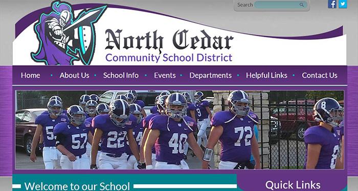 School Website Designer: North Cedar Community School District