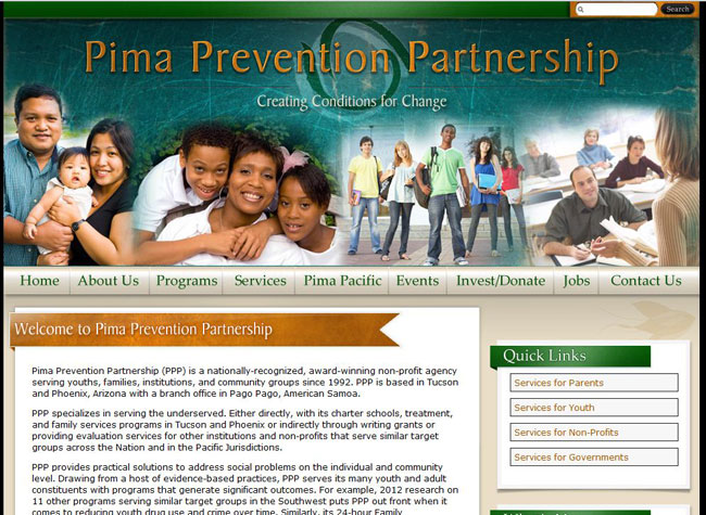 Educational Organization Websites: Pima Prevention Partnership