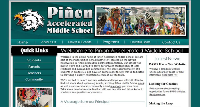 School Website Designer: Piñon Middle School