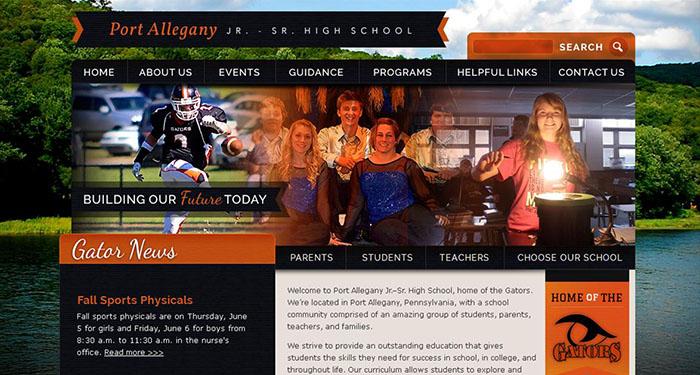 High School Web Page: Port Allegany High School