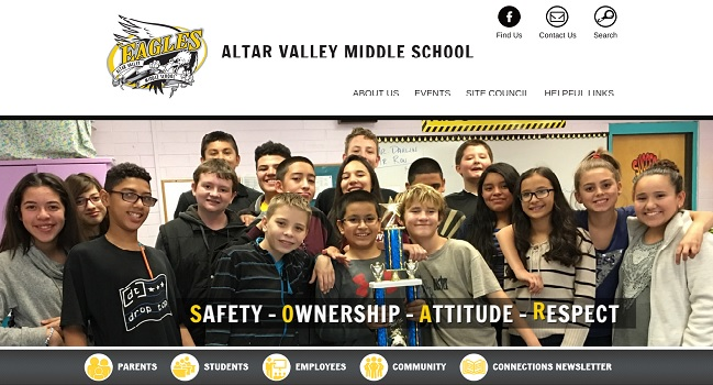 Middle School Web Design: Altar Valley Middle School