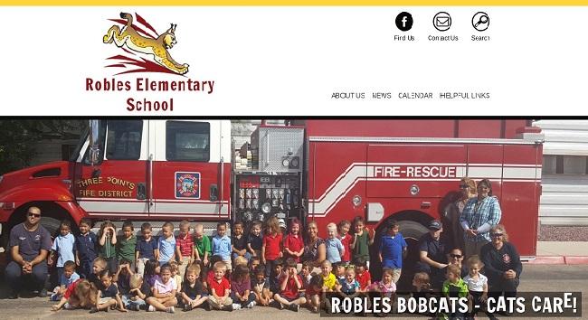Elementary School Web Design: Robles Elementary