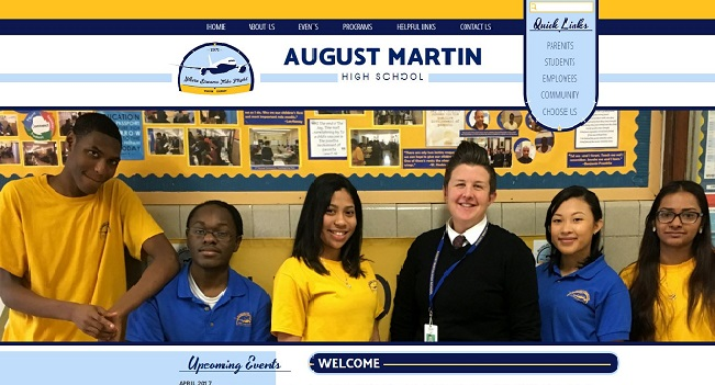 High School Web Design: August Martin High School