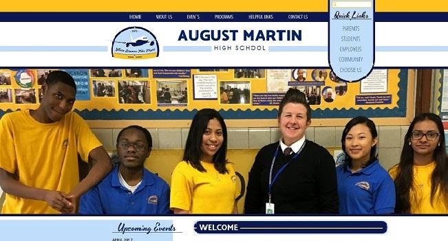 High School Web Design: August Martin High School