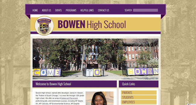 High School Web Design: Bowen High School