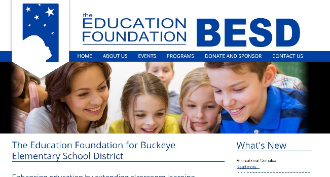 Education Support Web Design: Education Foundation BESD