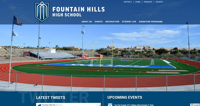 High School Web Design: Fountain Hills High School