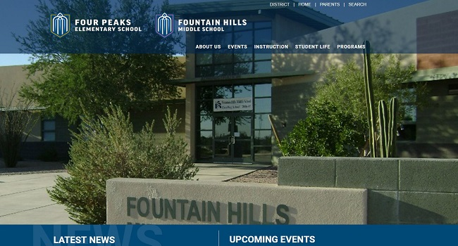 Elementary/Middle School Web Design: Four Peaks Elementary/Fountain Hills Middle School