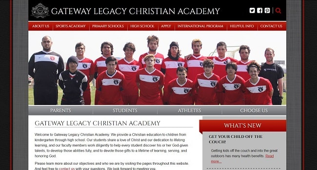 Private School Web Design: Gateway Legacy Christian Academy