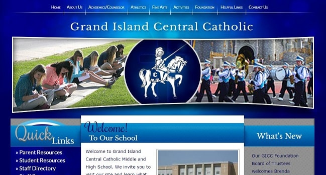 Private School Web Design: Grand Island Central Catholic