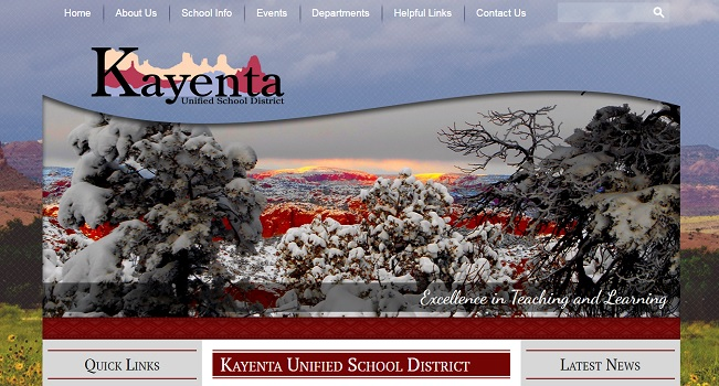 School Website Design: Kayenta USD