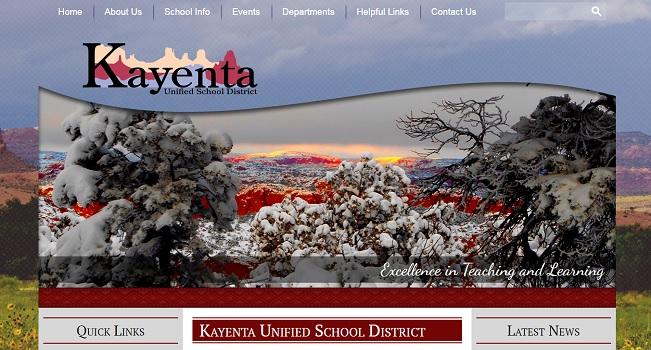 School Website Design: Kayenta USD