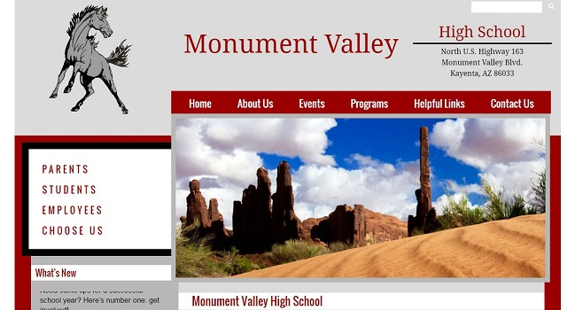 High School Web Design: Monument Valley