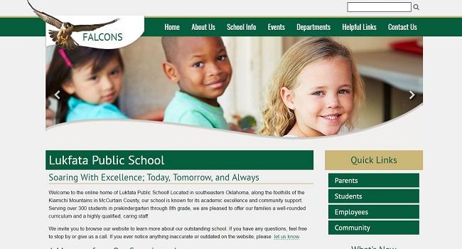 School Website Design: Lukfata Public School