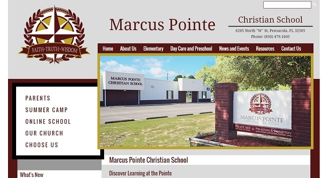 Private School Web Design: Marcus Pointe Christian School