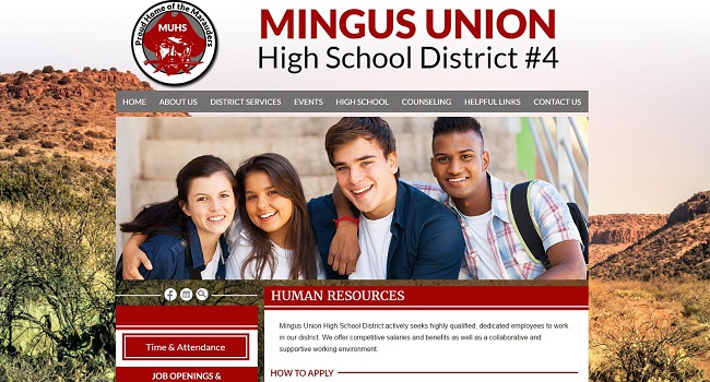 School Website Design: Mingus Union High School District #4