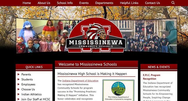 School Website Design: Mississinewa Community Schools