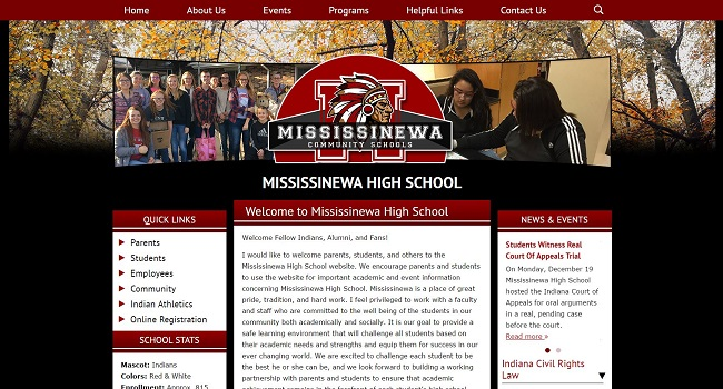 High School Web Design: Mississinewa High School