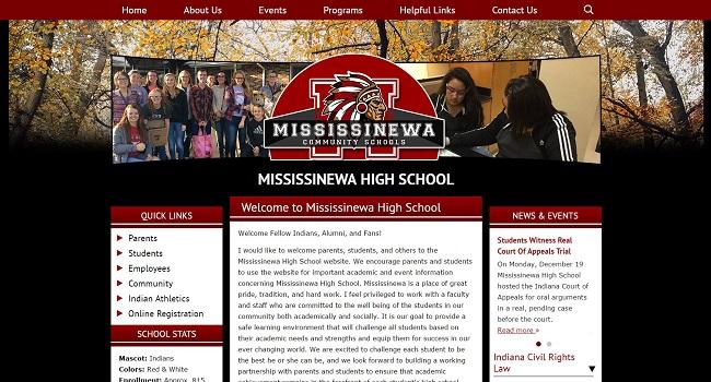 High School Web Design: Mississinewa High School
