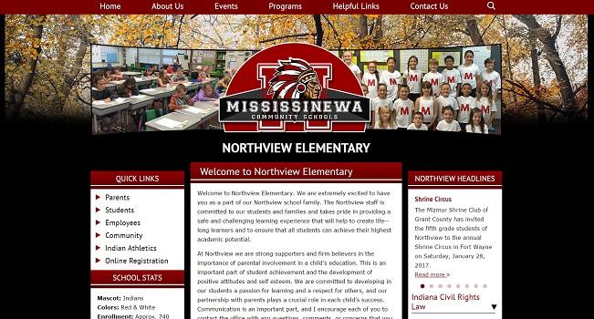 Elementary School Web Design: Northview Elementary