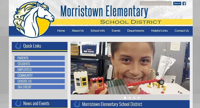 School Website Design:  Morristown Elementary School District